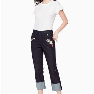 🔥KATE SPADE Embroidered Cuff Jean.🔥🔥🔥